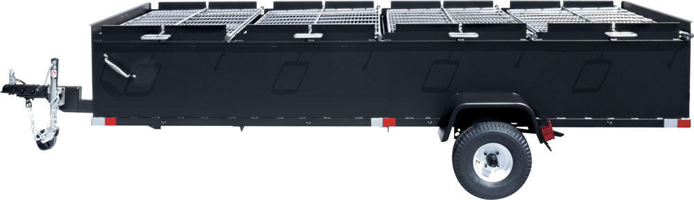 BBQ144 Commercial Chicken Cooker Trailer | Large Charcoal Grills