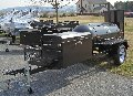 TS250 BBQ Smoker Trailer With BBQ42 Chicken Cooker on the Front