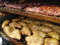 Chicken and Ribs in a Tank Smoker