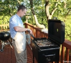 Marlin Frying Bacon on BB26S With Griddle