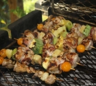 Grilled Kabobs on BBQ26S Chicken Cooker