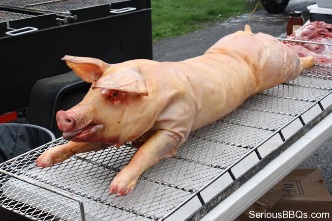 Stuffed Pig Ready to Cook