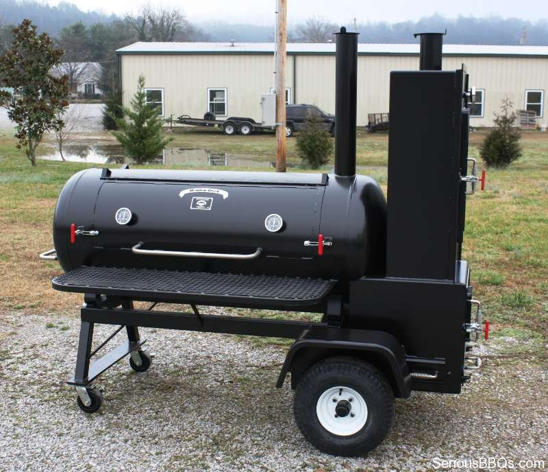 TS120P BBQ Tank Smoker With Live Smoke and Warming Box