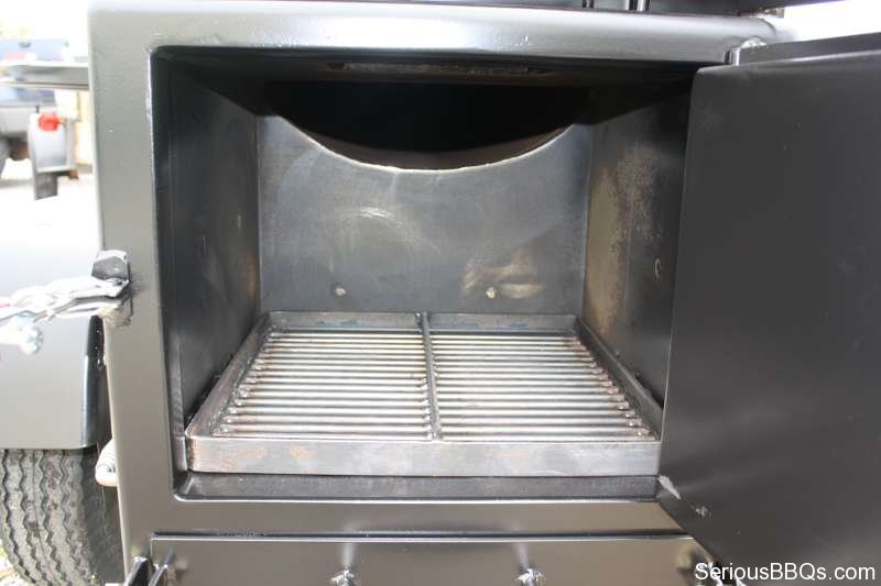 Ts120p Offset Smoker With Live Smoke And Warming Box