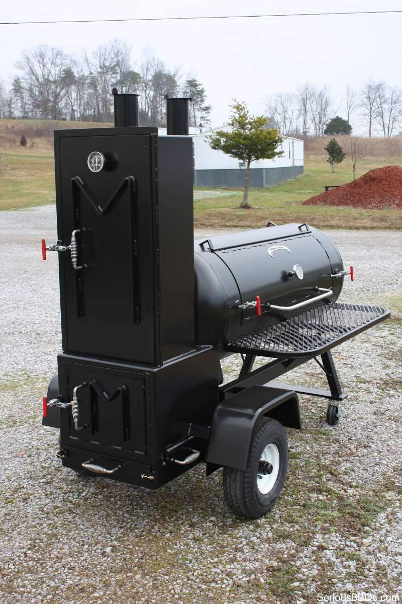 ts120p offset smoker with live smoke and warming box seriousbbqs com