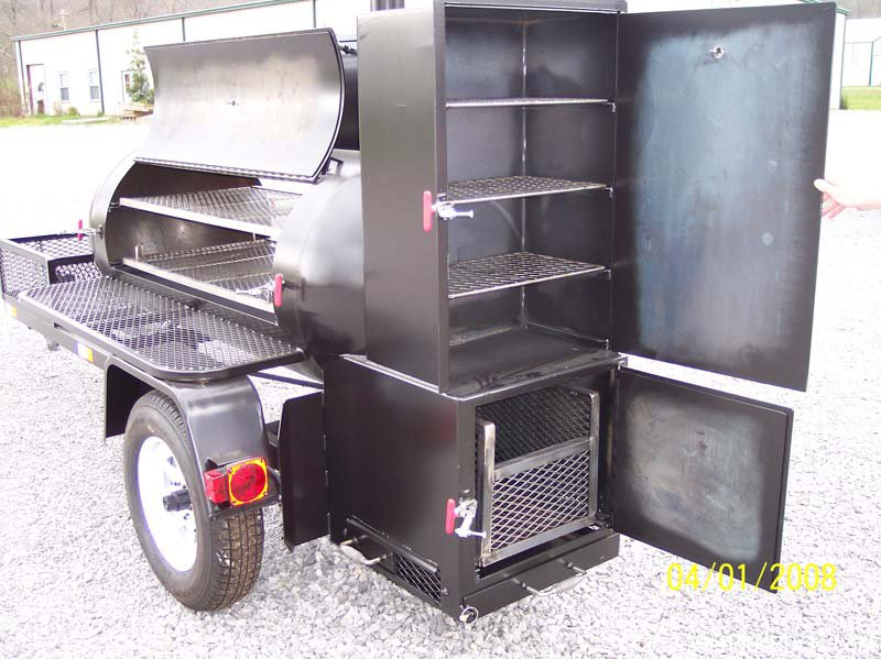 smoker bbq trailer grill barbecue smokers ts250 grills charcoal trailers pit offset meat rotisserie build barbeque pits texas homemade pros