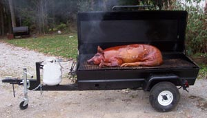 Roasted Pig on a PR72GT Gas Pig Roaster