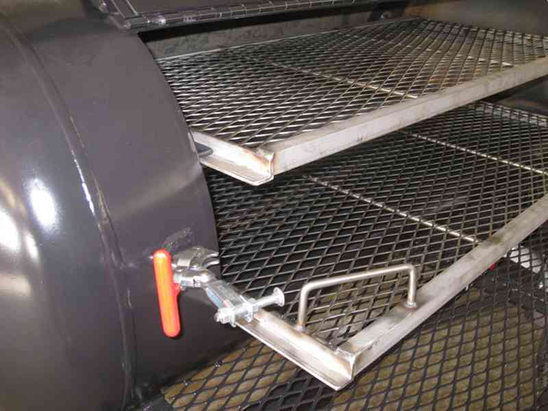 Left End Of Slideout Stainless Steel Grates